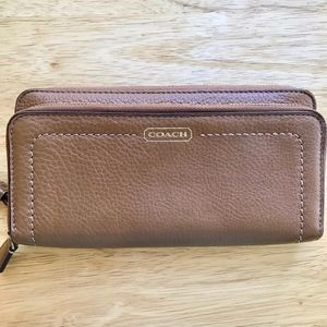 Coach Double Accordion Zip and Phone Wallet